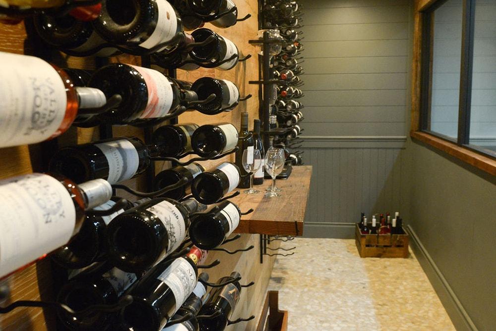 Wine wall interior design